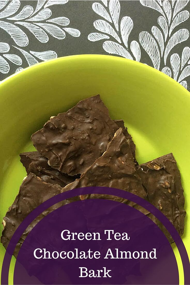 Green Tea Chocolate Almond Bark recipe