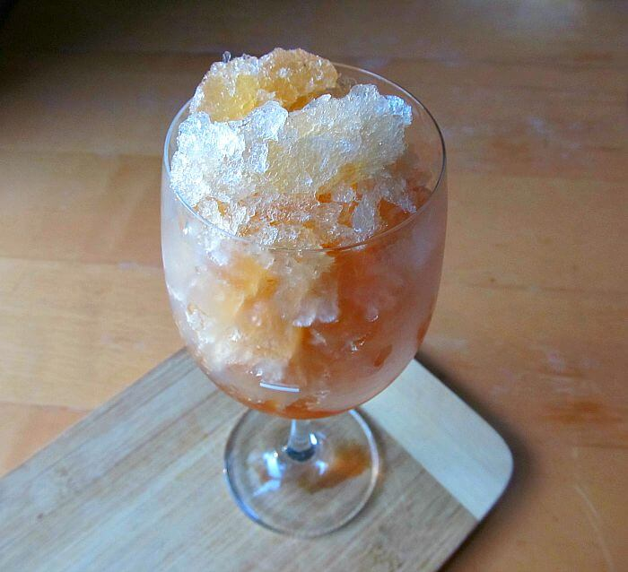 A Classic Earl Grey Tea Granita with a Twist