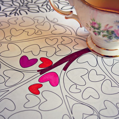 Tea Time Coloring Pages