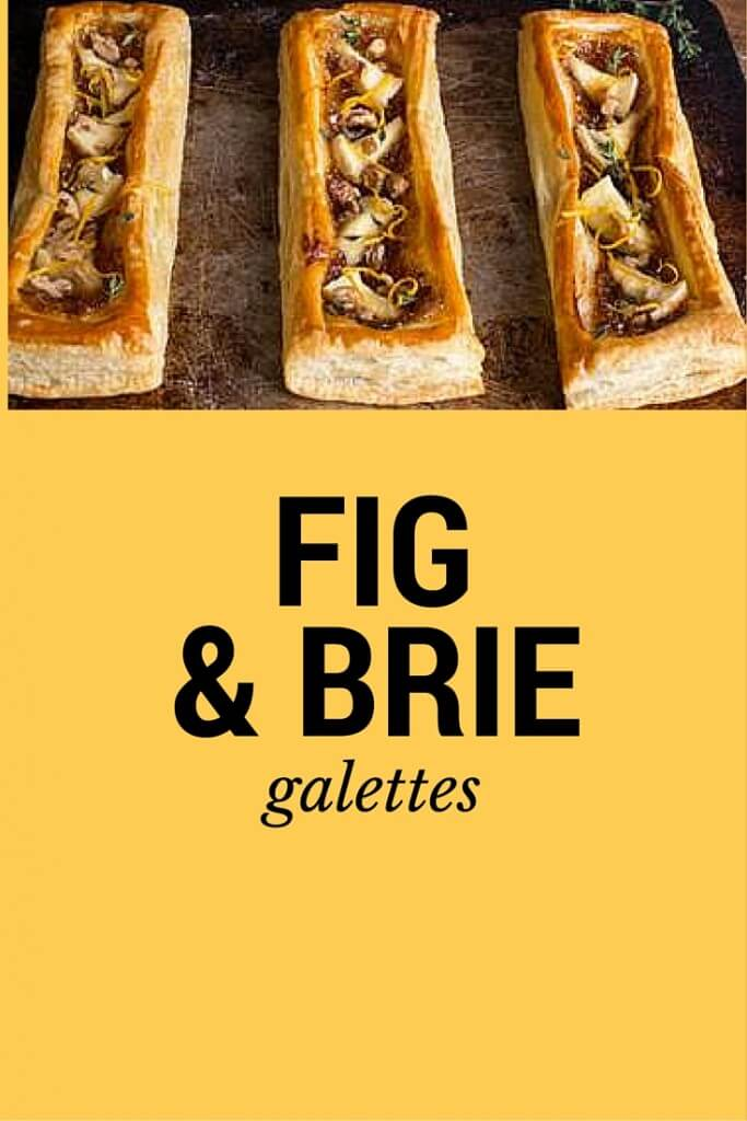 fig and brie galettes recipe