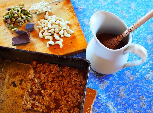 dark chocolate nut squares recipe