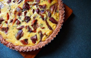 honey thyme quiche recipe