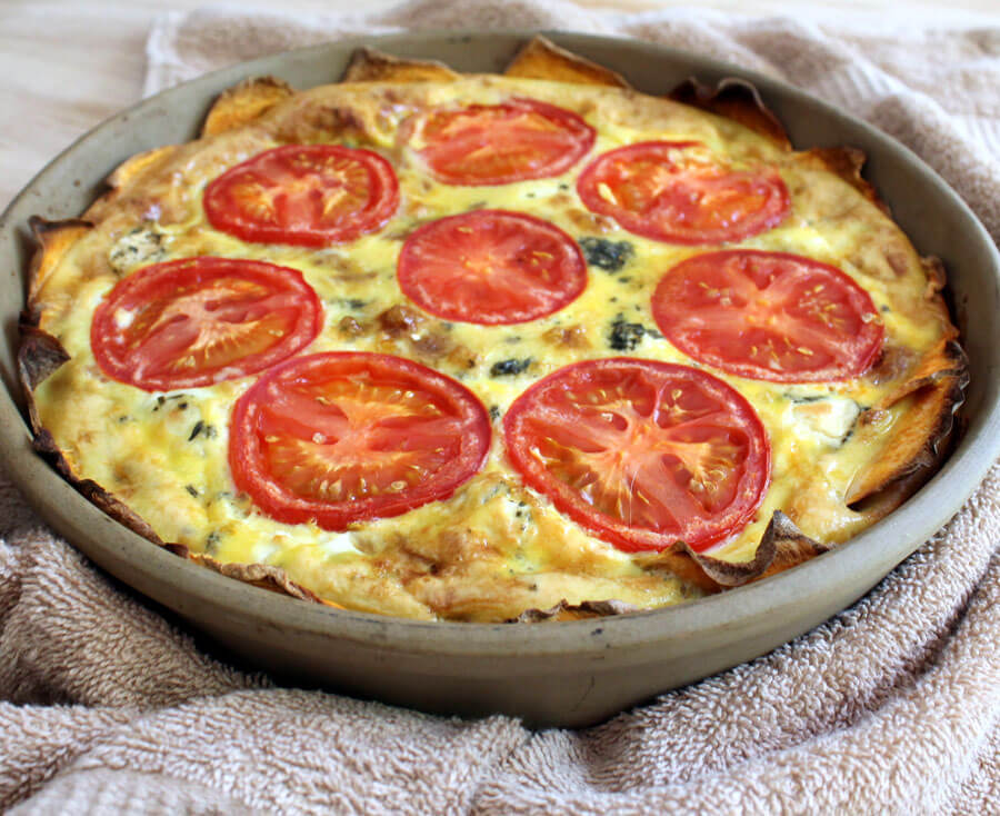Sweet Potato Quiche with Caramelized Onion, Tomato, and ...