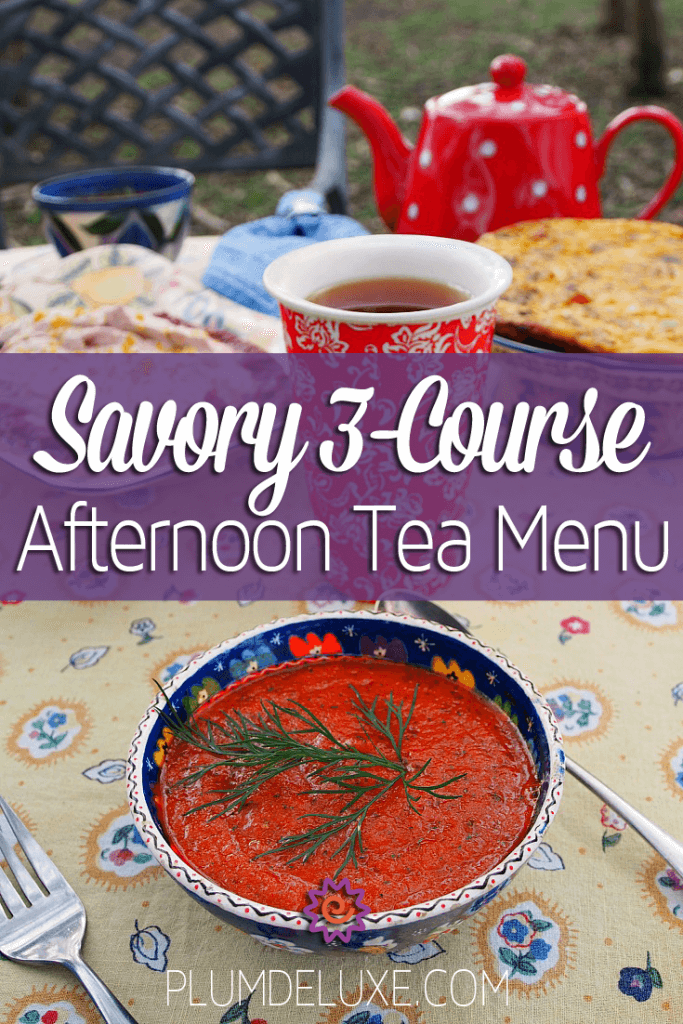 savory afternoon tea menu