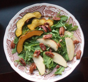 autumn arugula salad