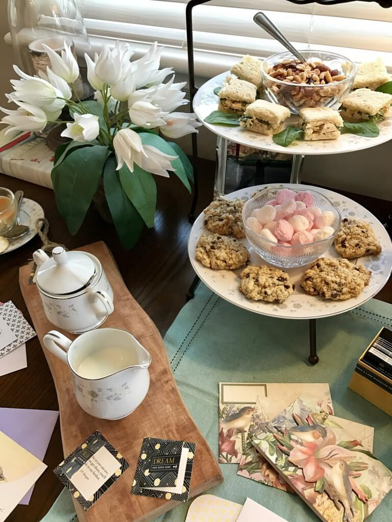 letter writing tea party