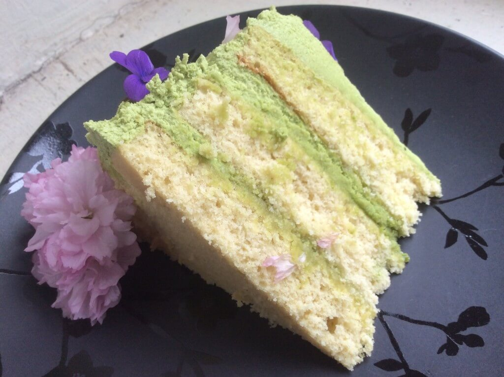matcha tea layer cake