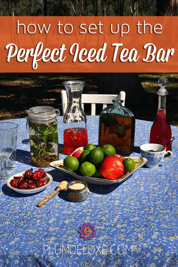how to set up the perfect iced tea bar. Black Bedroom Furniture Sets. Home Design Ideas
