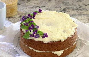 Honey Lavender Tea Cake