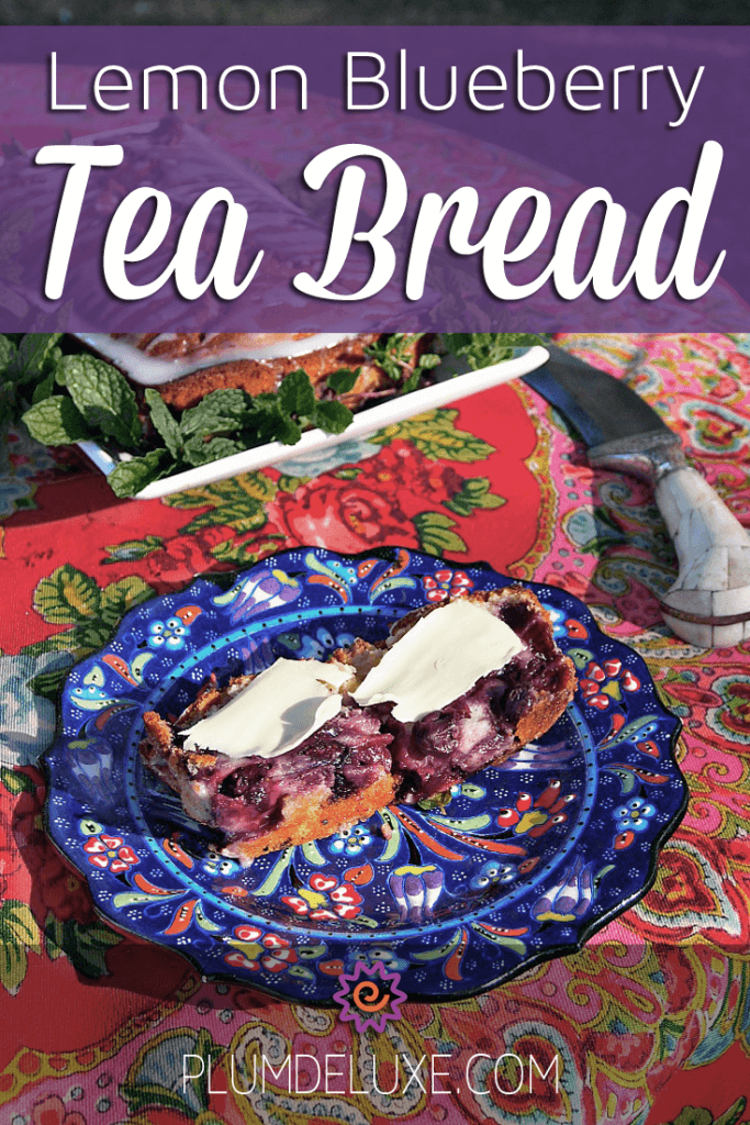 Lemon Blueberry Tea Bread