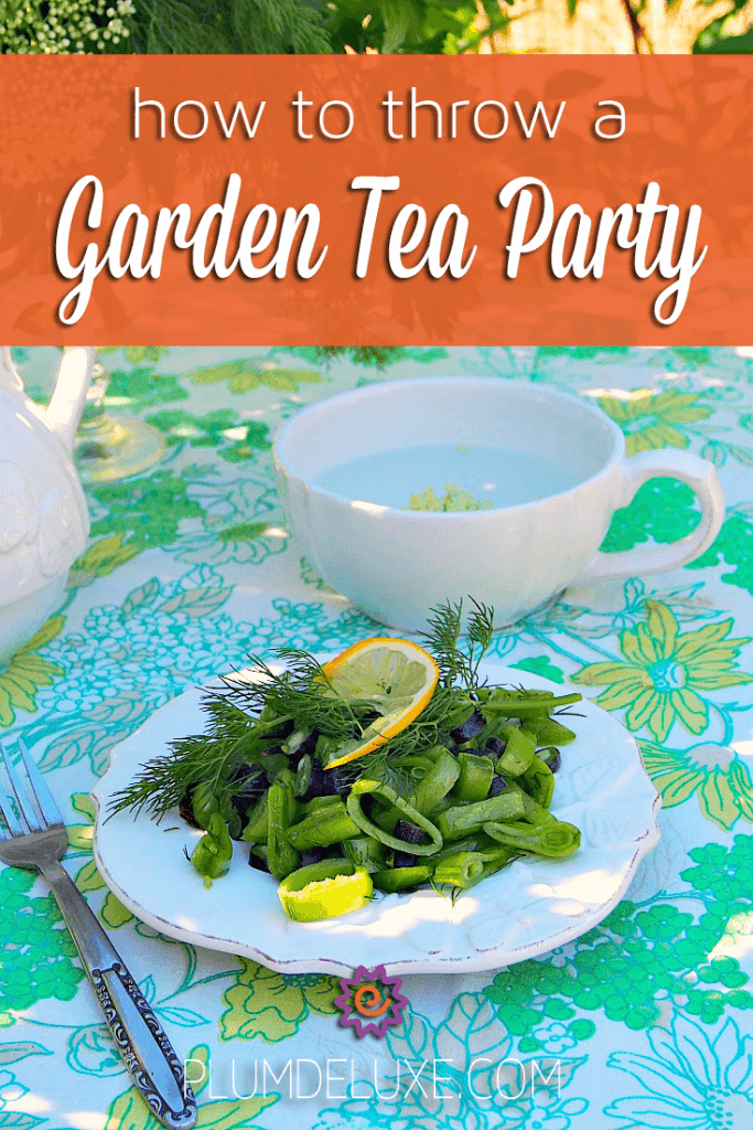 garden tea party ideas