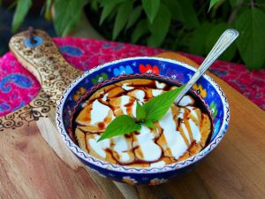 Greek Yogurt with Balsamic Drizzle