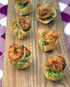 spicy shrimp guacamole cups