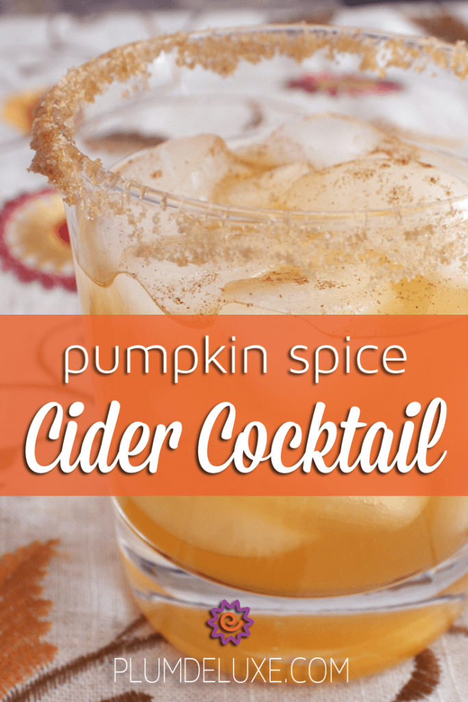 Pumpkin Spice Cider Cocktail