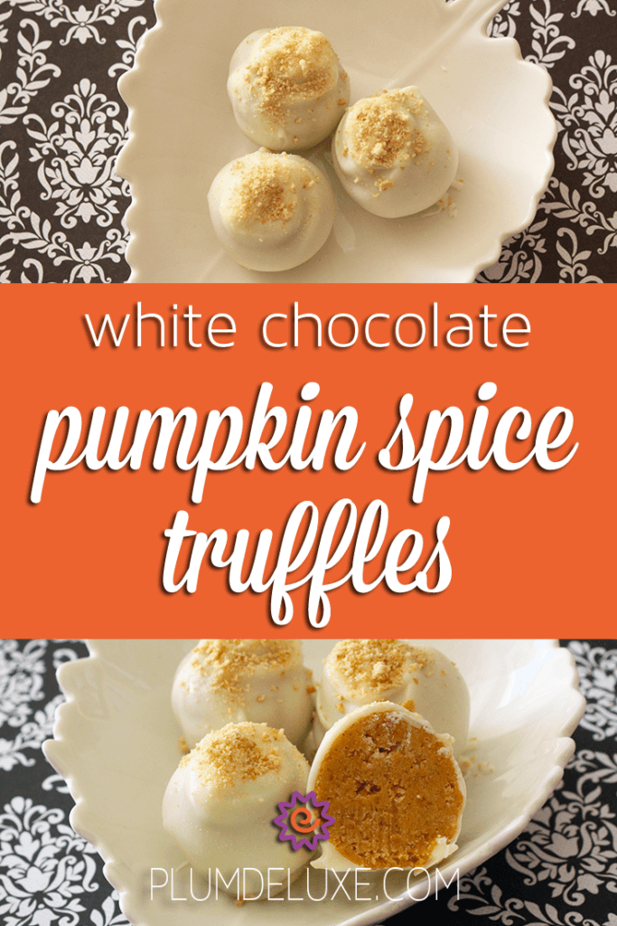 white chocolate pumpkin spice truffles