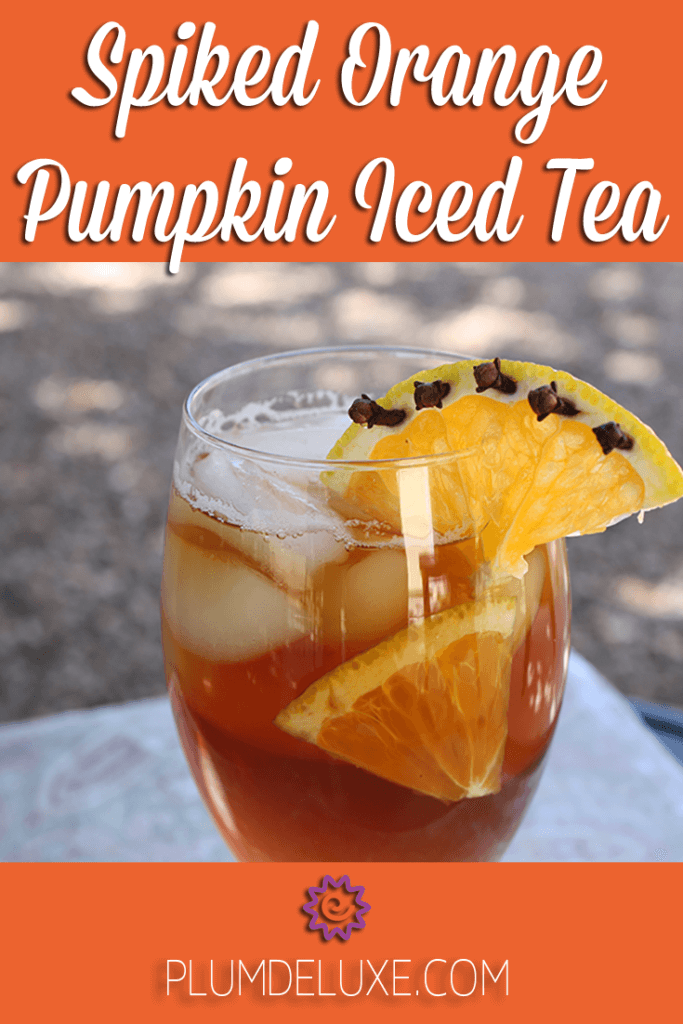Spiked Orange Pumpkin Iced Tea