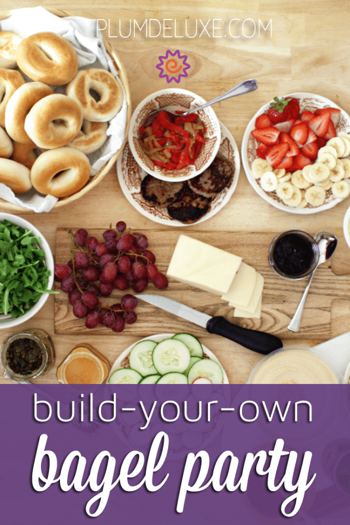 This build-your-own bagel party is the perfect thing for your next brunch menu or afternoon tea party.