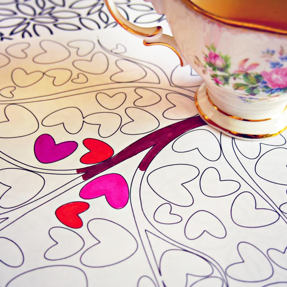 tea-coloring-book