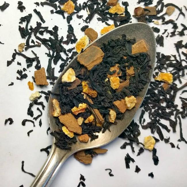 organic orange spice black tea loose leaf