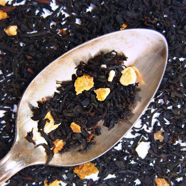 orange cream black iced organic loose leaf tea